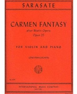 Sarasate, Pablo - Carmen Fantasy, Op. 25 - Violin and Piano - by Zino Francescatti - International